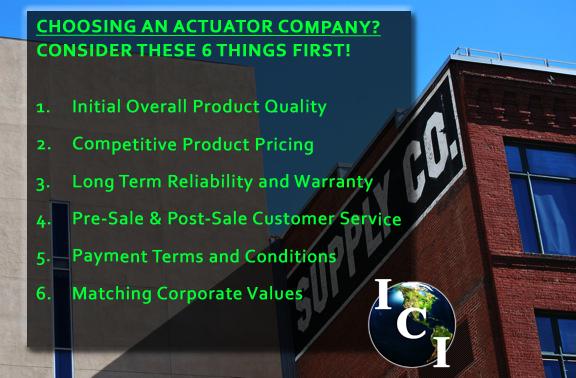 Actuator Company - 6 Factors