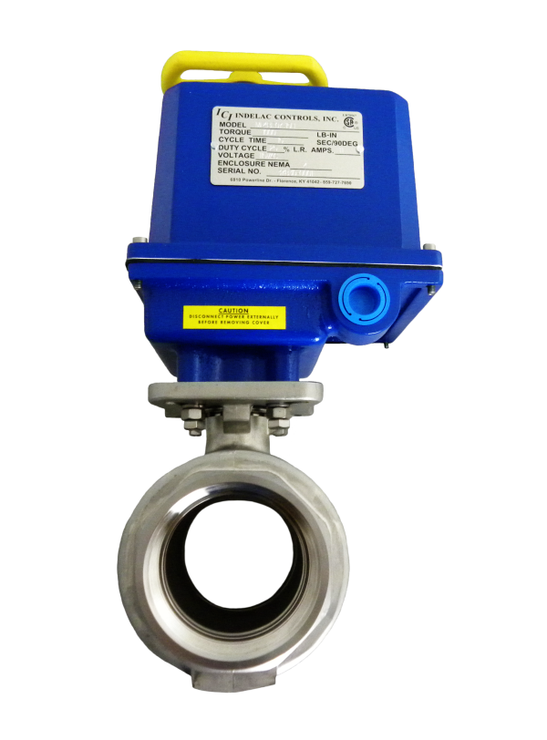 Indelac Electric Actuator M-Series With 2 inch Ball Valve