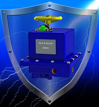 Battery backup, battery back-up, indelac, electric actuator, fail safe actutor, spring return actuator, rotary electric actuator, safe and secure