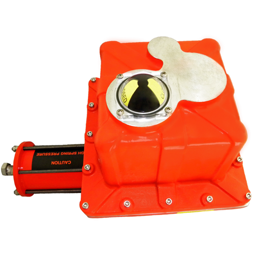 AS4 Spring Return Electric Actuator - Top View