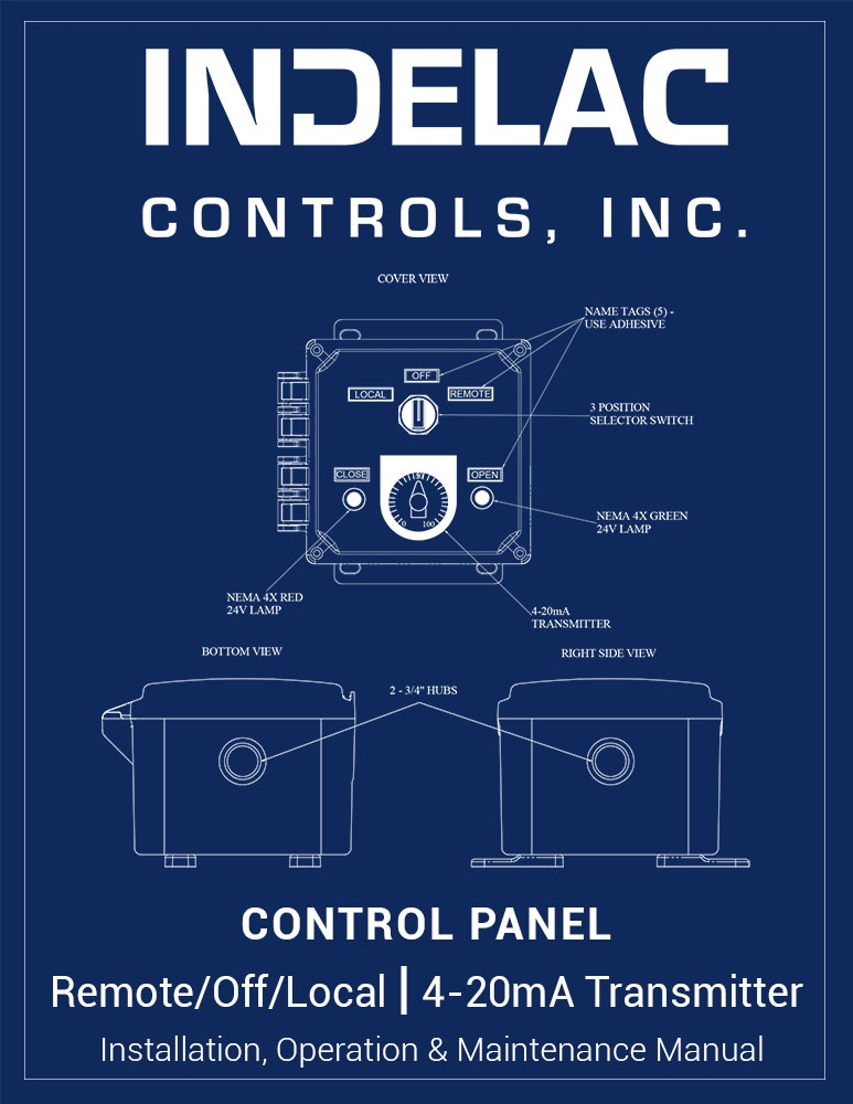 Control Panel Remote/Off/Local 4-20mA Transmitter