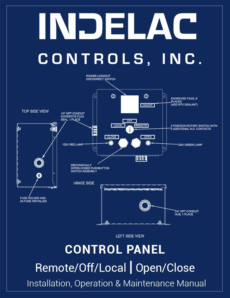 Control Panel Remote/Off/Local Open/Close