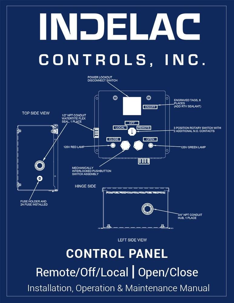 Control Panel Remote/Off/Local Open/Close