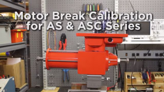 Motor Break Calibration for AS & ASC Series